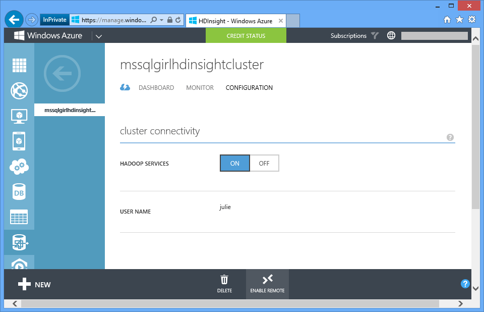 Ms SQL Girl | HDInsight In A Jiffy: Executing Hadoop Commands