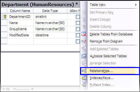 database diagram visual studio 2013 1999 mitsubishi galant wiring getting started with sql server diagrams a relationships frame will appear same as in the case of ssms table designer there you can configure parameters and