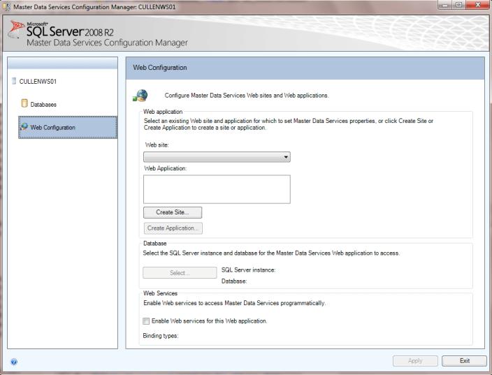 Configure web application permissions for SQL Server Master Data Services