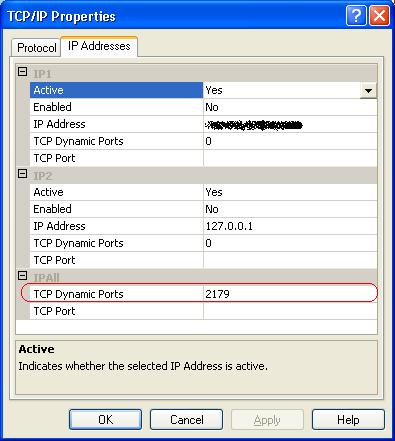 sql configuration manager port number