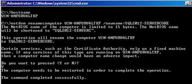Rename computer using NETDOM