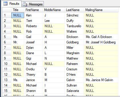 Concatenate SQL Server Columns into a String with CONCAT()