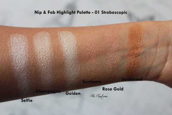 Nip & Fab Highlight Palette Swatches