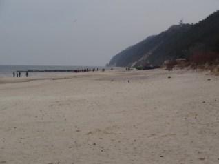 Międzyzdroje, plaża. Marzec 2015