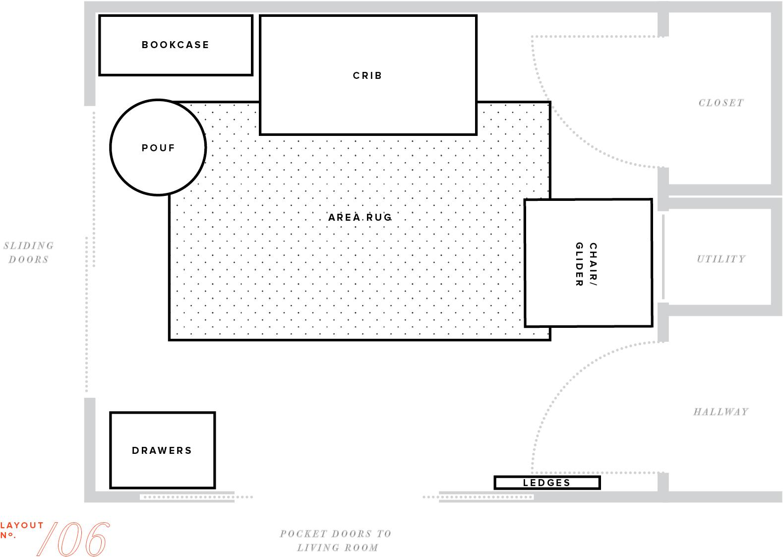 nursery makeover floor plan furniture layout baby boy