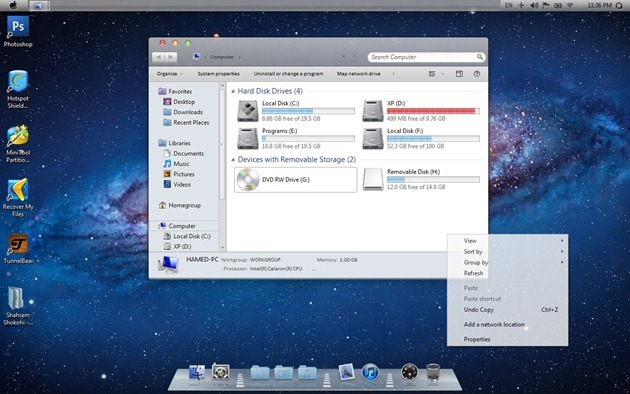 Mac Lion Skin Pack 13 To Make Windows 7 Look Like Mac Lion