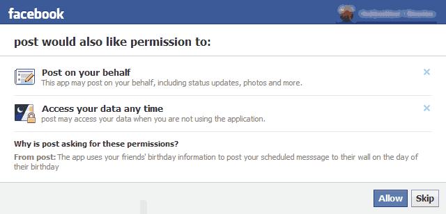 Automatically Post Birthday Wishes To Facebook Walls Of Your Friends