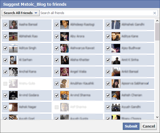 Select-All-Facebook-Friends-Chrome