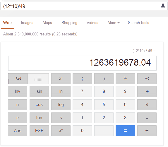 Google-Calculator