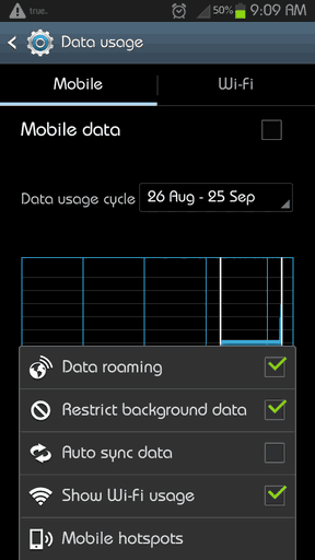 Restrict-Background-Data-Android