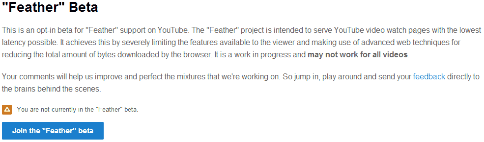 Make-YouTube-Faster-With-Feather-Beta
