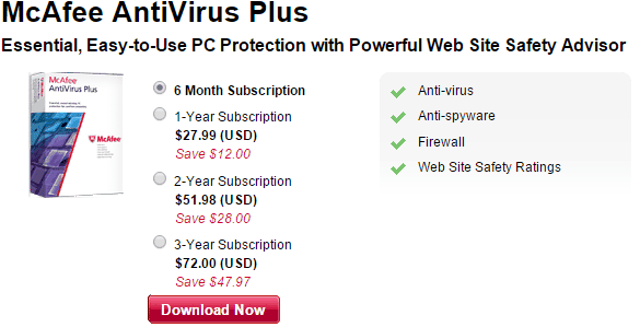 Download McAfee Antivirus Plus Free For 6 Months