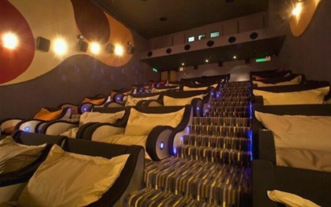 Nice big bean bags at cinemas
