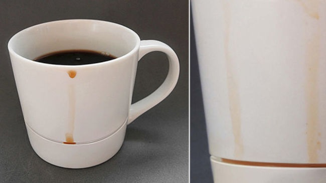 A mug that catches drips