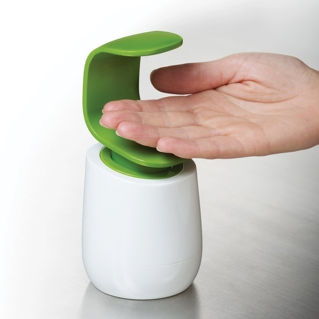 Palm Up Soap Dispenser. Buy here