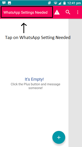 WhatsApp Settings Needed