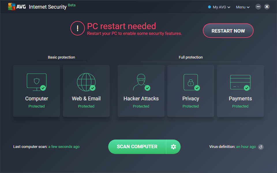 avg internet security free download trial version