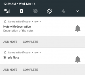The Best Android App for taking Notes in Notification Tray