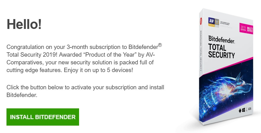Download Bitdefender Total Security 2019 90 Days Free Trial