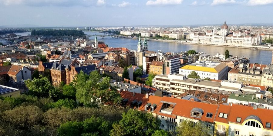 Climb up to the top of Castle Hill to see a panoramic view of Danube River