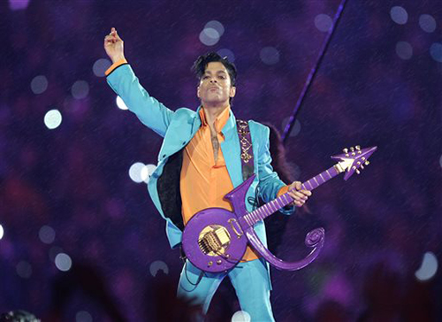 "In this Feb. 4, 2007 file photo, Prince performs during the halftime show at the Super Bowl XLI football game at Dolphin Stadium in Miami. Prince, widely acclaimed as one of the most inventive and influential musicians of his era with hits including ""Little Red Corvette,"" ''Let's Go Crazy"" and ""When Doves Cry,"" was found dead at his home on Thursday, April 21, 2016, in suburban Minneapolis, according to his publicist. He was 57. (AP Photo/Chris O'Meara, File)"