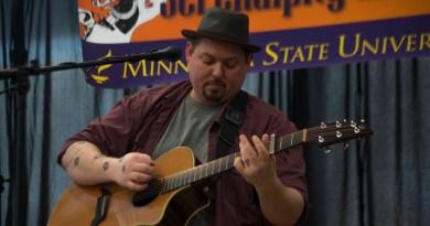 Musician Tim Cheesebrow serenades the CSU