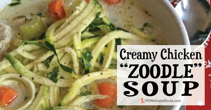 Creamy Chicken Zoodle Soup