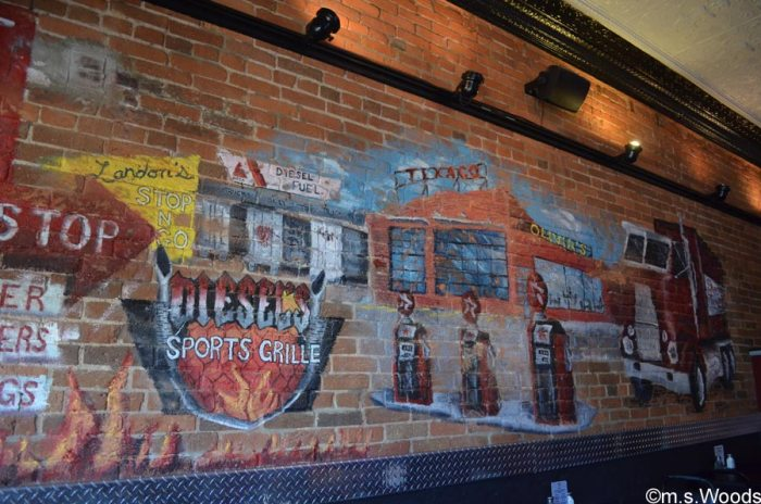 more-art-on-wall-at-diesels-sports-grill-danville-indiana