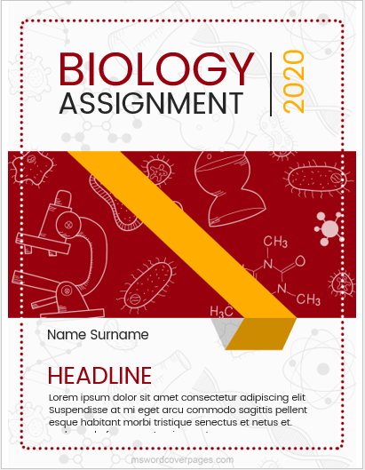 Biology Assignment Cover Page Templates Ms Word Cover Page Templates