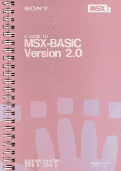 A guide to MSX-BASIC version 2.0