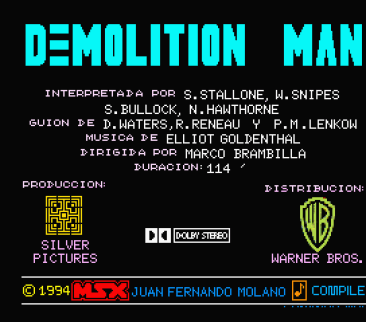 Demolition Man (Juan Fernando Molano, 1994)
