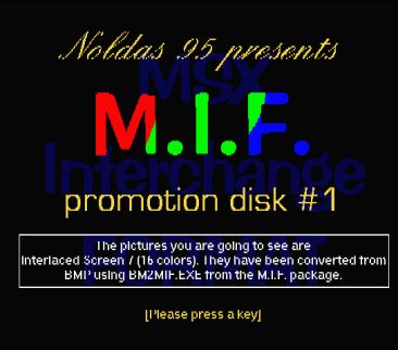 MIF promotion Disk #1 (4)
