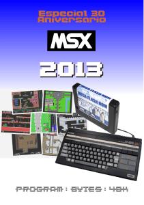 Calendario MSX 30 aniversario MSX