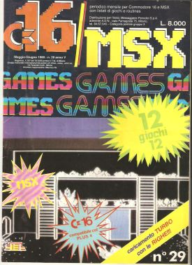 Portada C16 MSX #29