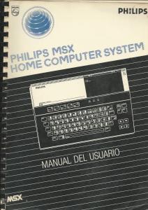 Portada Manual Philips MSX Home Computer System (VG-8000)