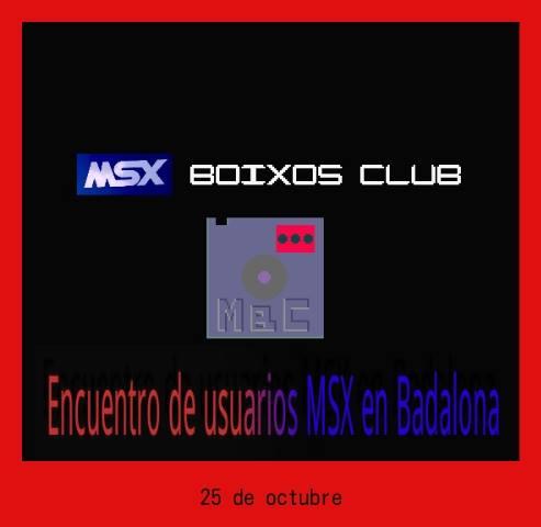Encuentro de usuarios MSX en Badalona