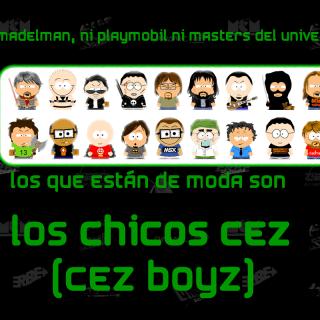 Collage personajes CEZ