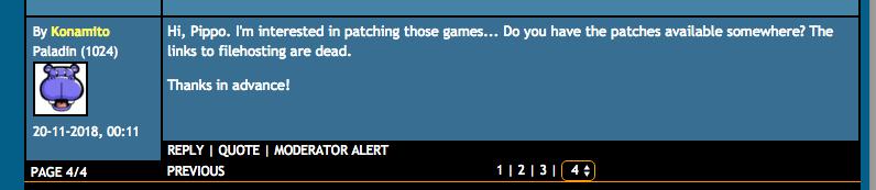 Mi mensaje en los foros del MSX Resource Center