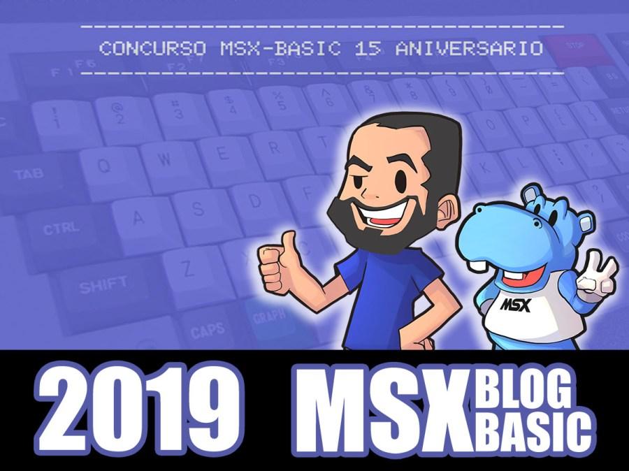 Cartel del concurso MSX-BASIC 15º aniversario MSXBlog