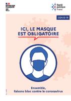Affiche Coronavirus Masque Obligatoire