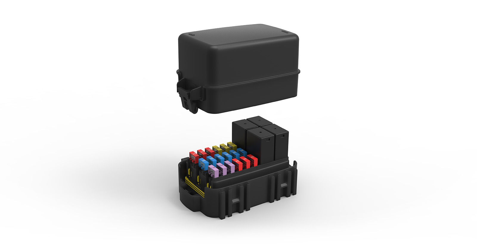 hight resolution of module with fuses and relays