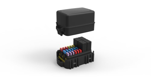 small resolution of module with fuses and relays