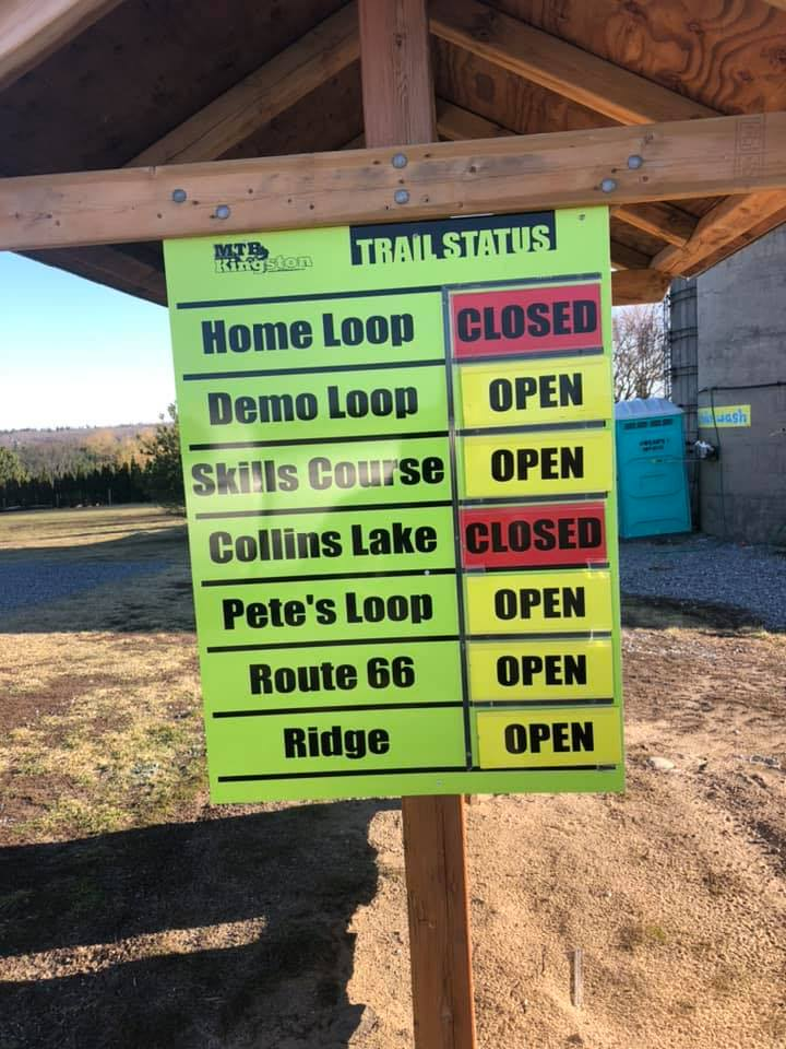 Trails Partially Open