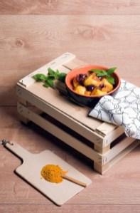 163.Gnocchi di patate alla curcuma con datterini gialli e olive di Gaeta ripieni di fiordilatte di Rosanna