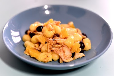 4.Gnocchi di patate con merluzzo all'arancia e olive taggiasche di Greta