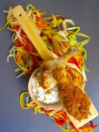 *6.Pollo fritto di Chiara con salsa di yogurt di Chiara