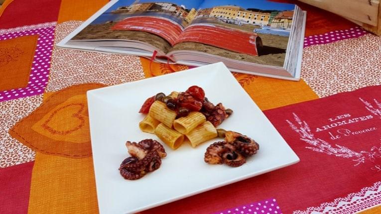 102. Pasta polpo e olive taggiasche di Francesca A