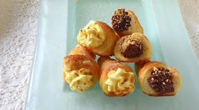 24. Manuela O, Cannoli con ganache montata ai marroni e con mousseline alla composta di mele