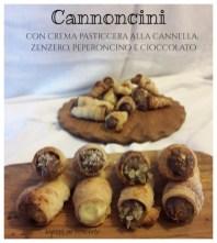 3. Antonella M, Cannoncini con crema pasticcera alla cannella e al cioccolato con zenzero e peperoncino