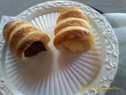 5. Francesca C, Cannoli con crema pasticcera e cona crema al cioccolato e pepe nero
